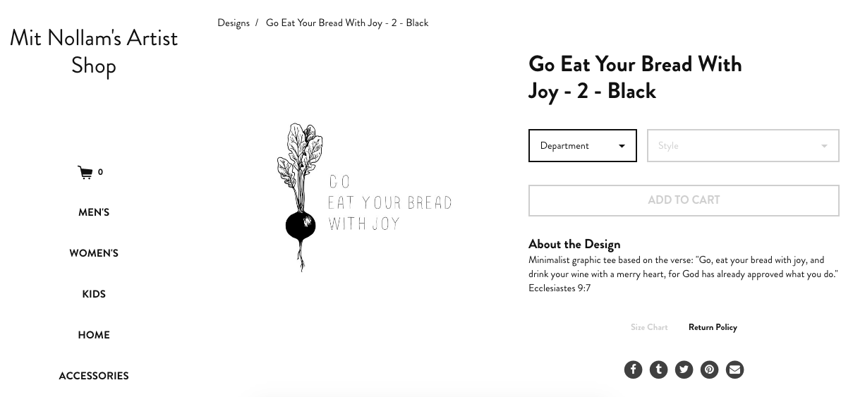 go eat your bread with joy shirts