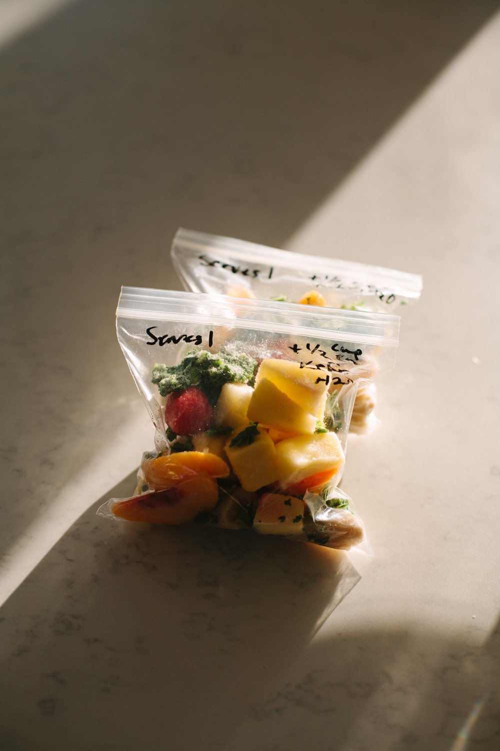 green smoothie packs