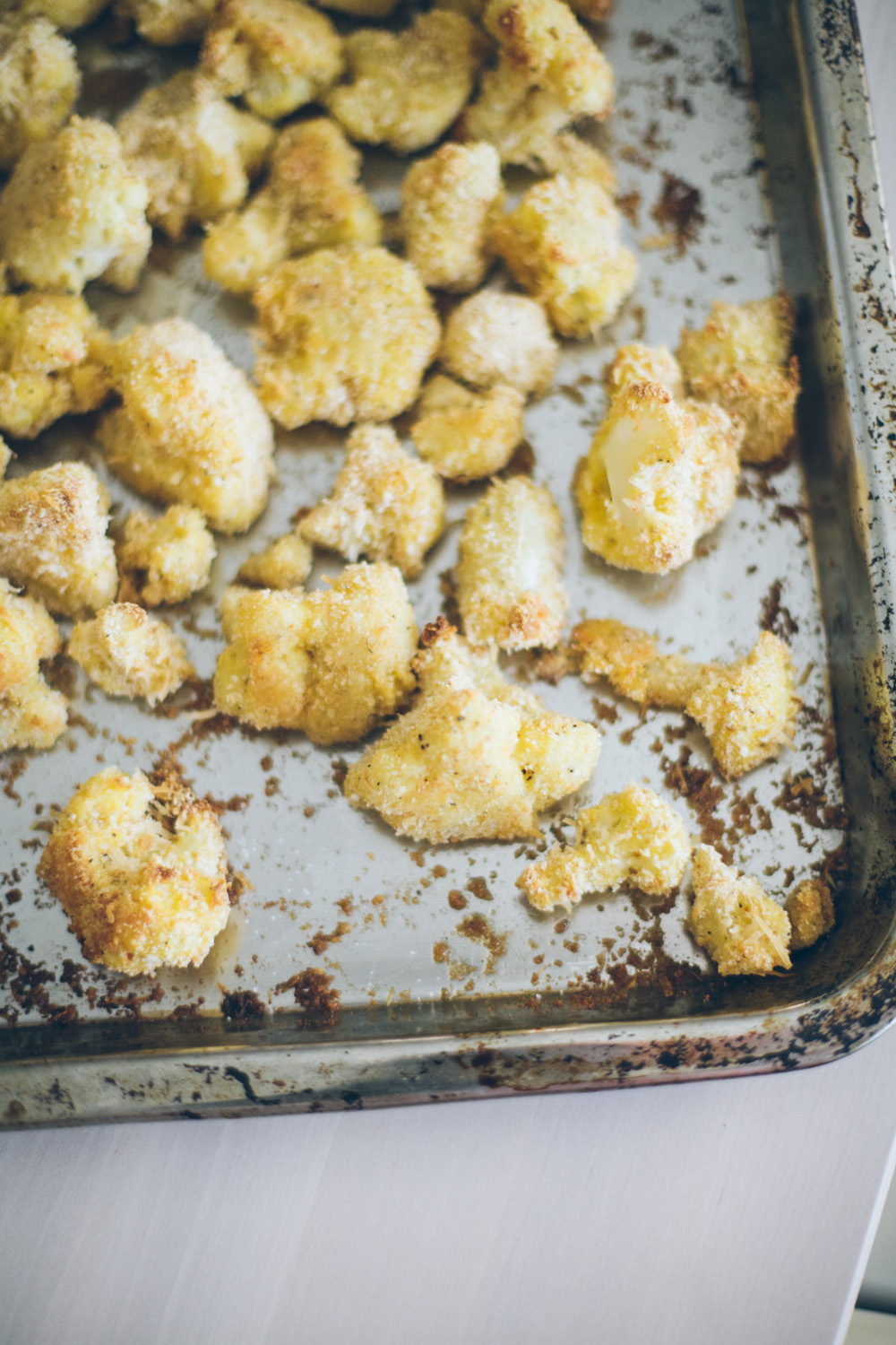 how to make breaded cauliflower baked not fried