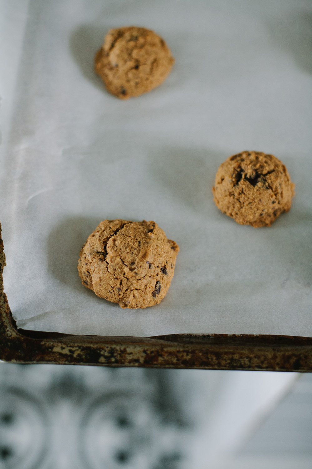muffin-like chocolate chip breakfast cookies with cassava flour