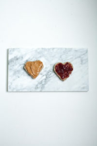 PB + J Valentine food ideas in heart shapes / Go Eat Your Bread with Joy