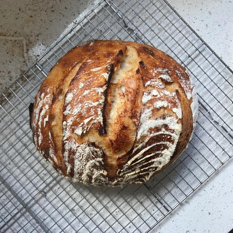 A loaf of sourdough bread from Holly Daws